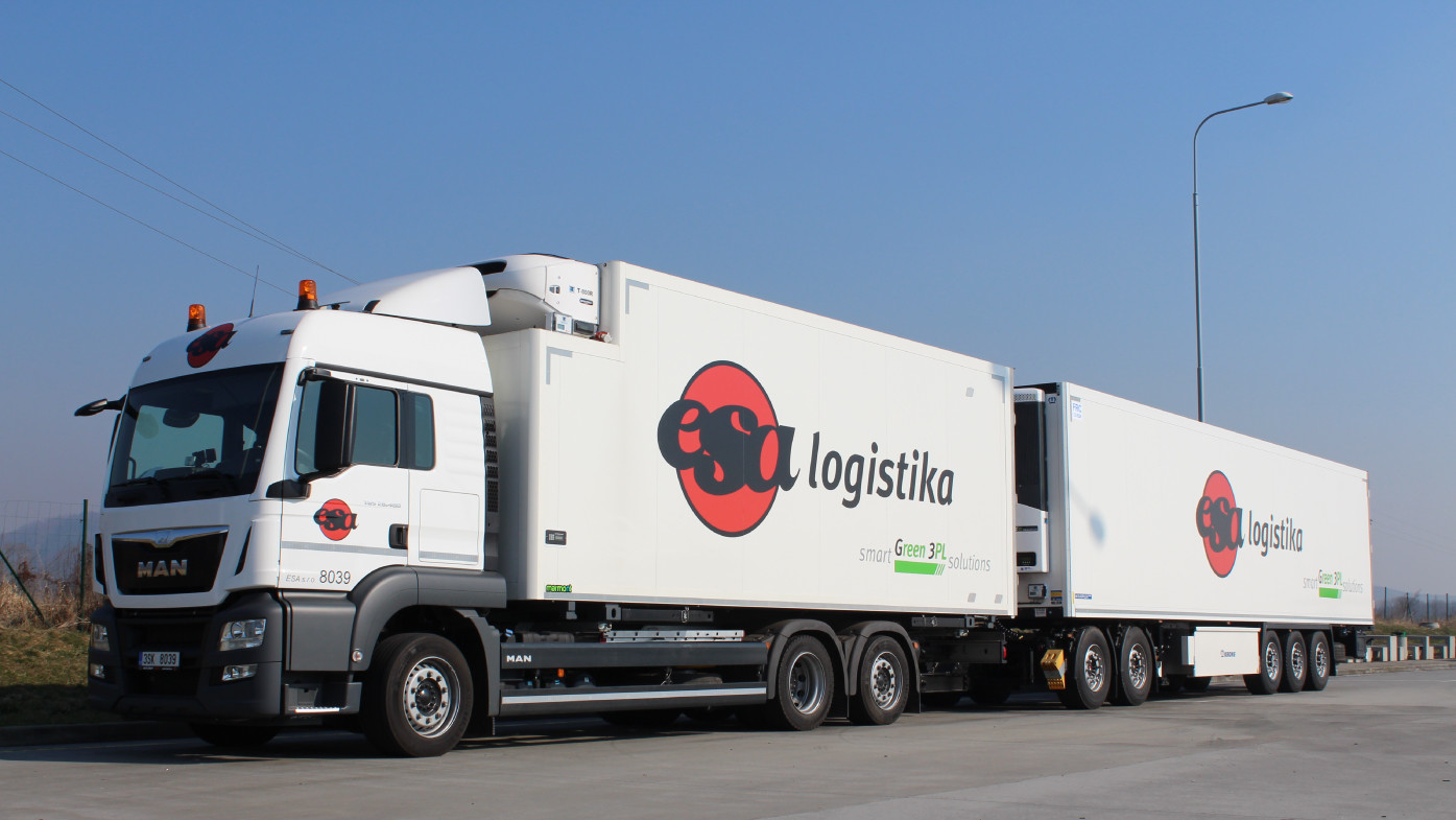 Road transport - white ESA logistika truck