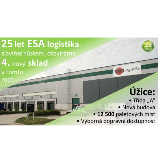 ESA logistika is opening Úžice warehouse