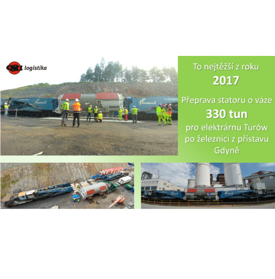 Project logistcs - transportation of stator to Turów