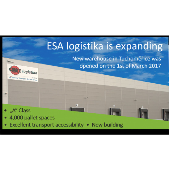 ESA opened a new warehouse in Tuchoměřice
