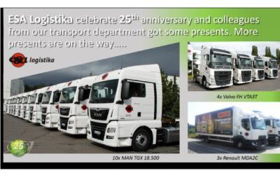 We celebrate 25th anniversary and colleagues from our transport department got some presents.