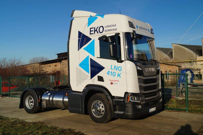 Nová Scania LNG 410 K v ESA logistika