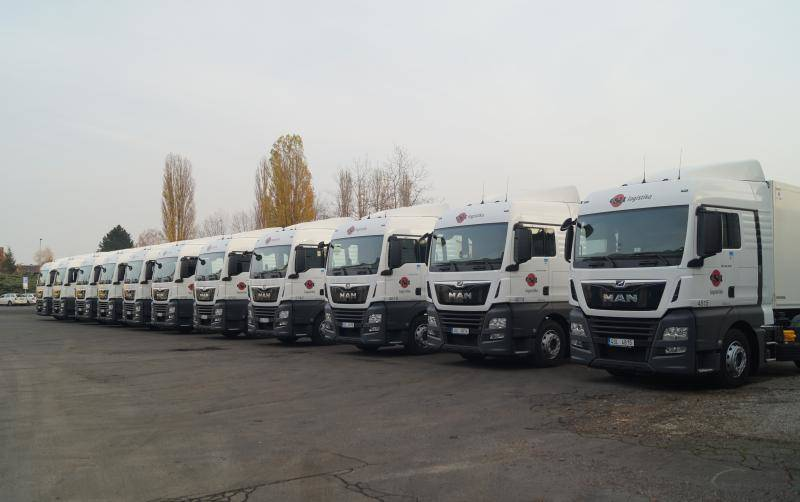 Fleet of ESA logistika MAN