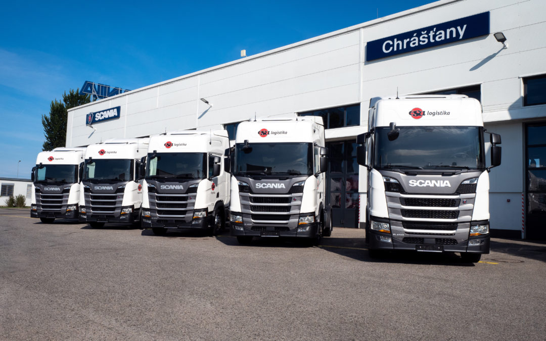5 new trucks at SCANIA