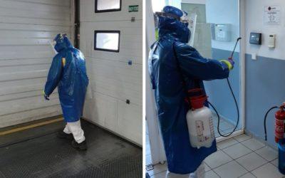 Ranná dezinfekcia v DC Senec