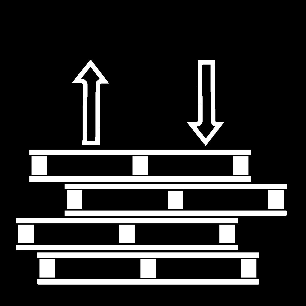 Logistika FMCG. Důležitá část služeb ESA logistika. Bílá ikona.