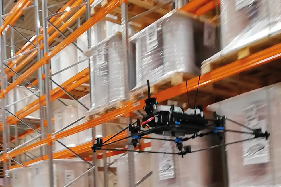 ESA logistika has started using autonomuos drone successfully for taking inventory of goods in the Polish warehouse in Radom.