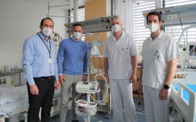 ESA logistika darovala kladenské nemocnici peníze na nákup nových přístrojů